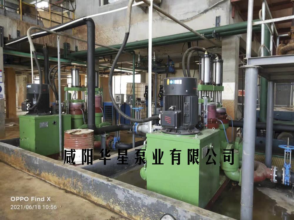 YB300-40柱塞泥浆泵市政污水处理现场