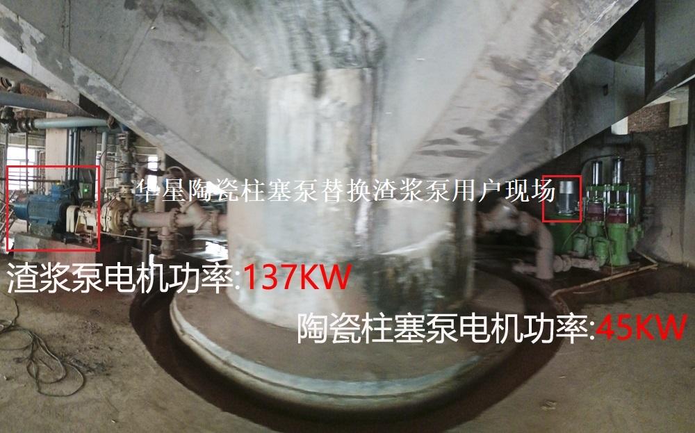 节能型陶瓷柱塞泵替换渣浆泵用户现场