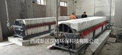 一台陶瓷柱塞泵给四台压滤机进料