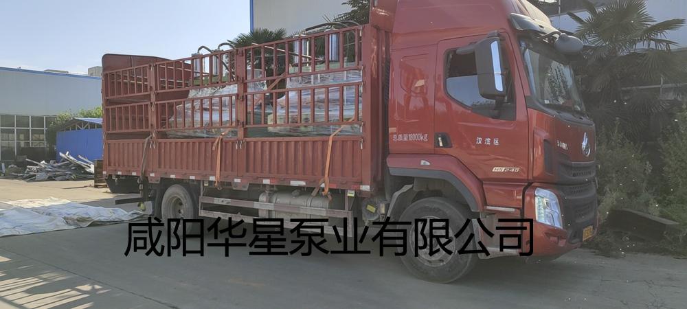 2台YB400-100陶瓷柱塞泵发货